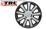 "Albrecht Wheel Cover Master Line ""FLASH III BLACK/SILVER"" 16 INCH (1 Piece)"