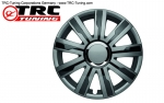 "Albrecht Wheel Cover Master Line ""MIRAGE V GREY/BLACK"" 16 INCH (1 Piece)"