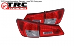 LED Klarglas Rückleuchten Lexus IS & IS-F (ROT CHROME)