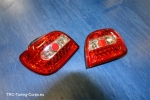 LED Klarglas Rückleuchten Toyota Yaris / Vitz P1 (RED CHROME)