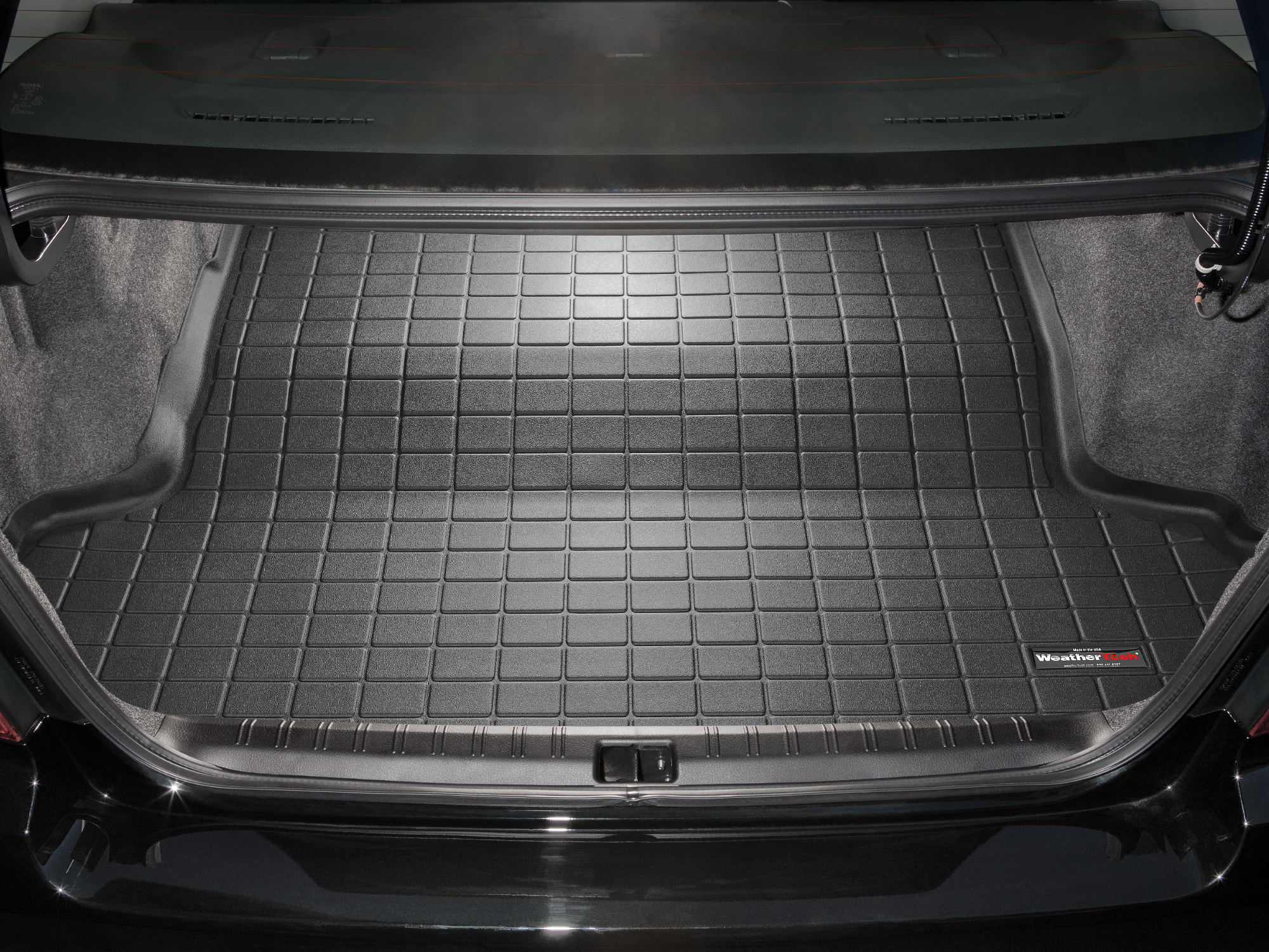 Black WeatherTech Custom Fit Front FloorLiner for Subaru Impreza