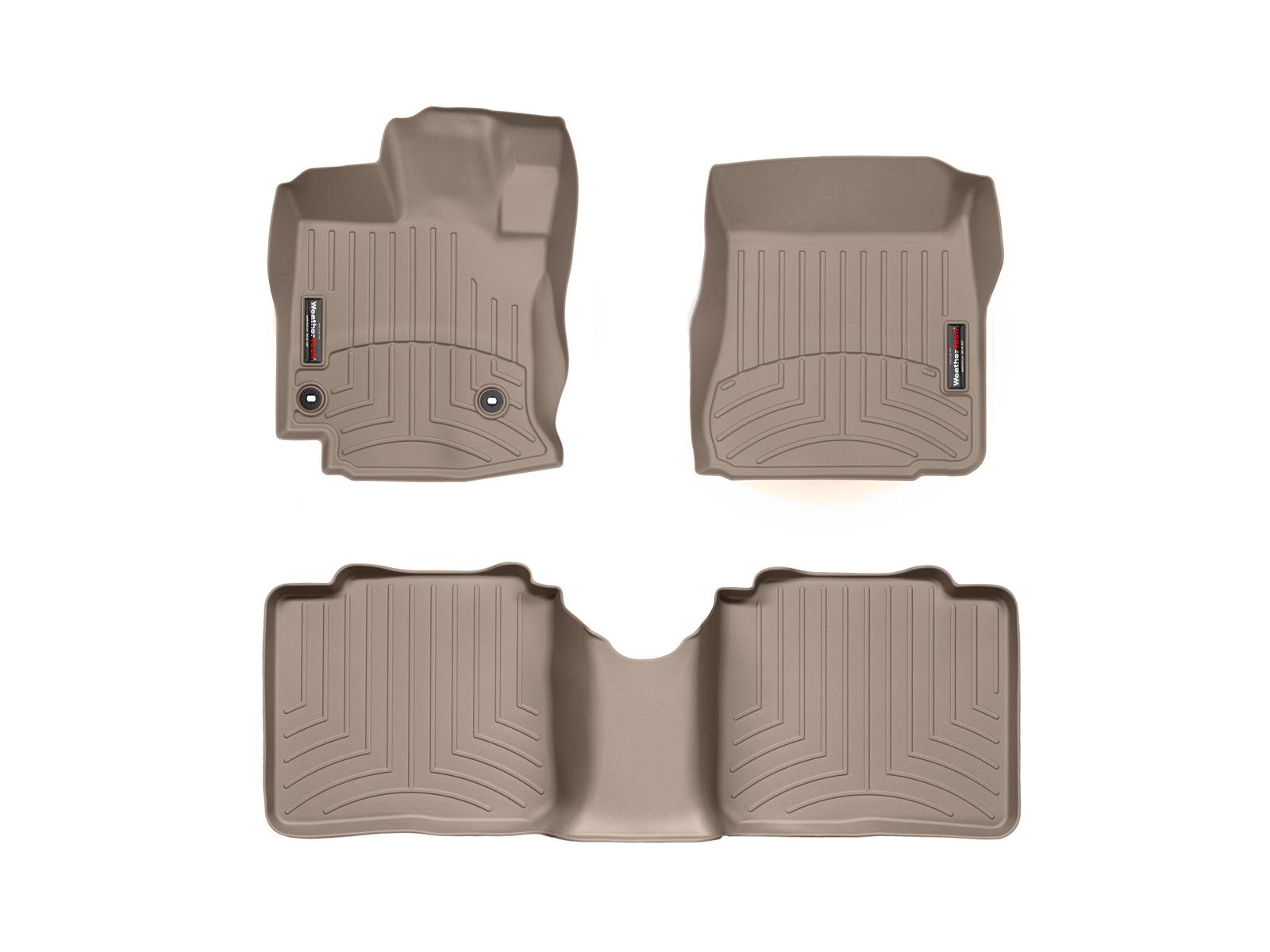 WeatherTech 454721-451832 FloorLiner, Front//Rear, Tan