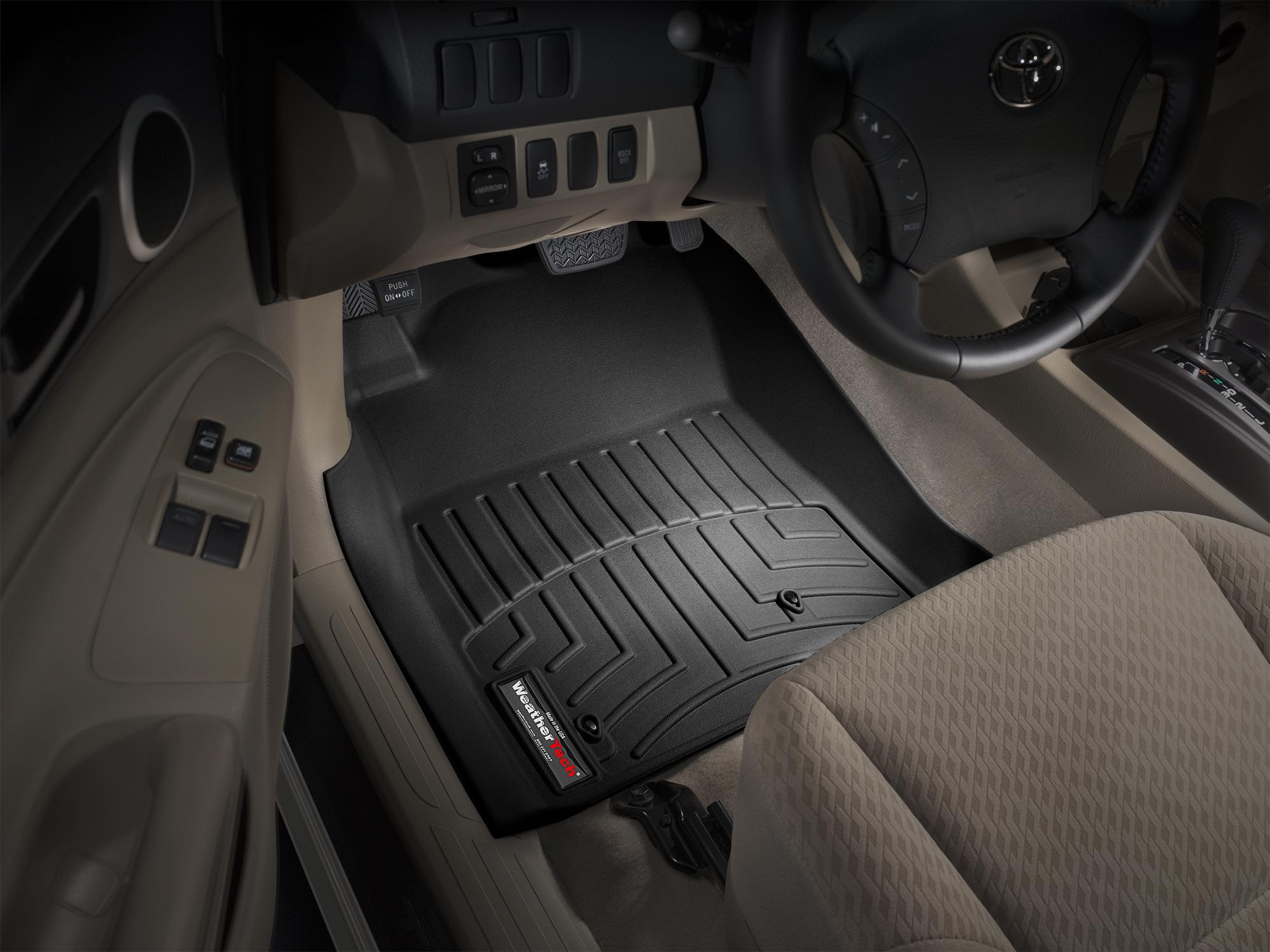 Black WeatherTech  440211  Custom Fit Front FloorLiner for Toyota Tacoma