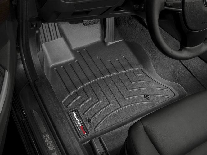2008 Passenger 2nd /& 3rd Row 2009 5 Piece Floor 2010 GGBAILEY D3561A-LSB-BK-LP Custom Fit Car Mats for 2007 2012 Hyundai Santa Fe Black Loop Driver 2011