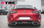 Rear Bumper Side Splitters Lexus LC500 (Black Molet)